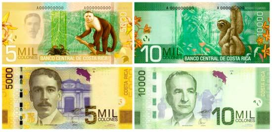 Los Billetes De Costa Rica