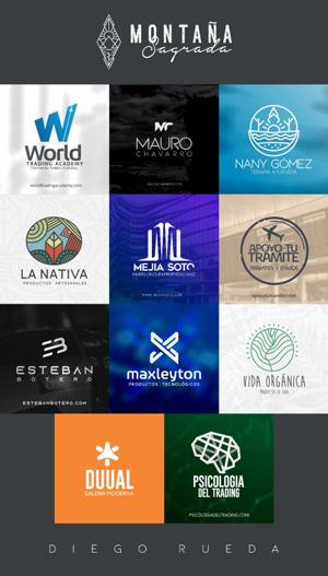 Logos creados en el bootcamp de Daniel Tirado