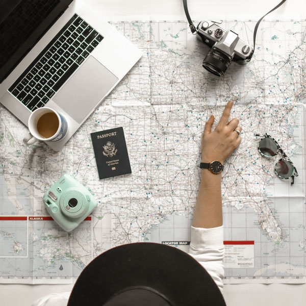 Viaja para aumentar la creatividad